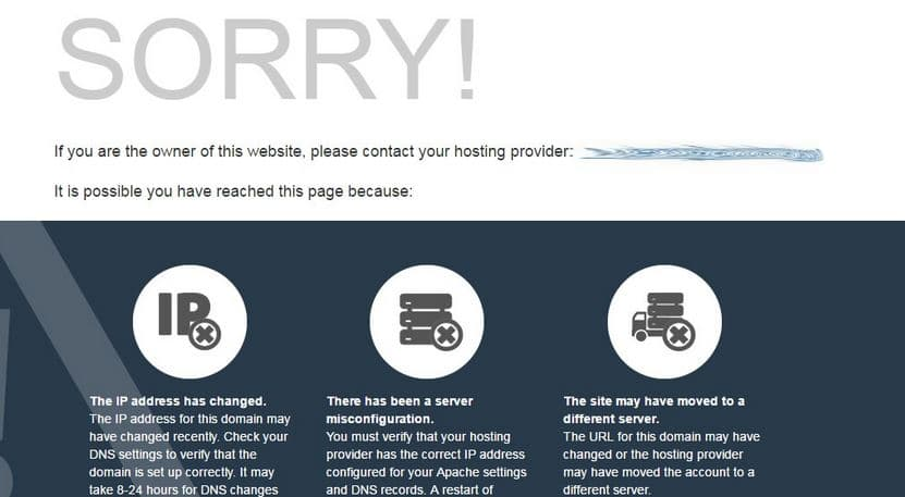 Cloudflare - Sorry Page