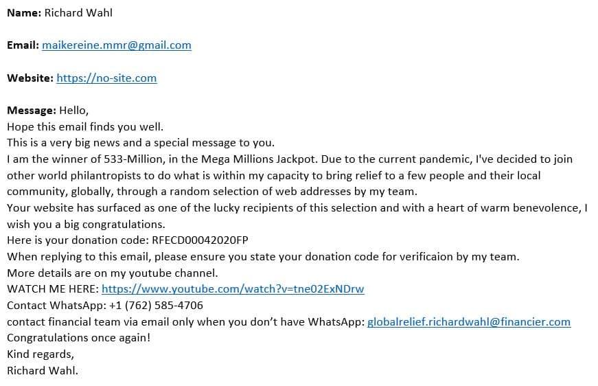 RockmusicRaider Pillory - Richard Wahl Phishing Scam