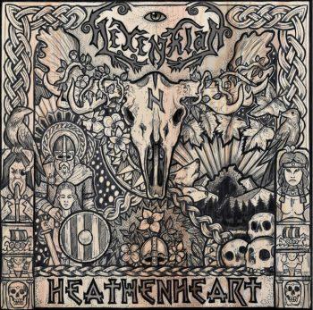 RockmusicRaider - Hexenklad - Heathenheart - Album Cover